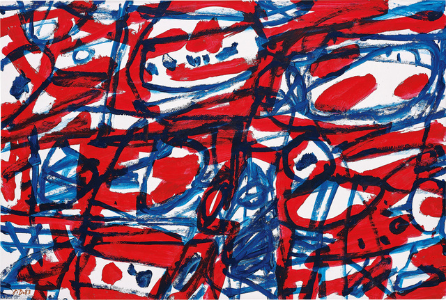 Jean Dubuffet, 'Mire G67 (Boléro)', 1983, Painting, Acrylic on paper mounted on card laid on canvas, Phillips