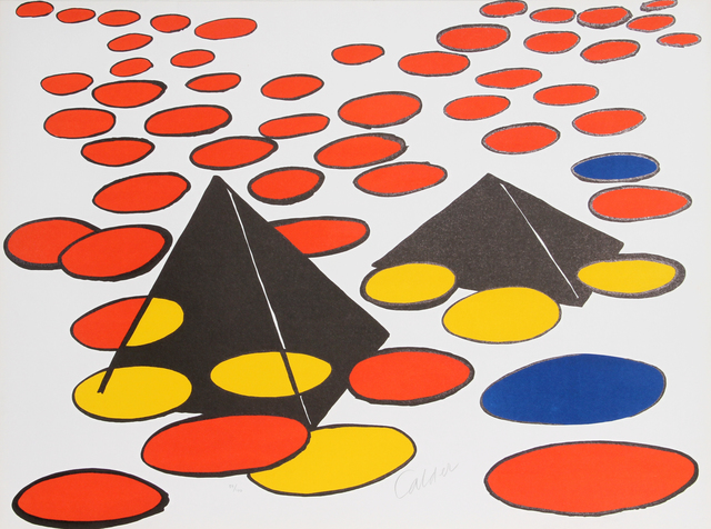 Alexander Calder, 'Black Pyramids', 1970, RoGallery Auctions: Prints and Multiples