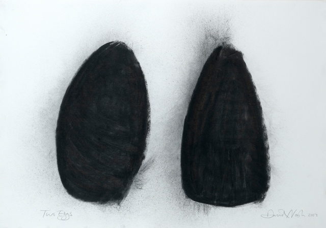 David Nash, 'Two Eggs', 2003, Drawing, Collage or other Work on Paper, Charcoal on paper, Annely Juda Fine Art