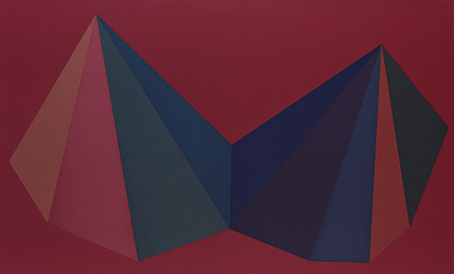 , 'Two Asymmetrical Pyramids: Plate I,' 1986, Sims Reed Gallery