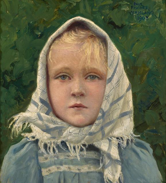 Paul Gustav Fischer, 'Young Danish Girl ', 1816-1918,  M.S. Rau Antiques