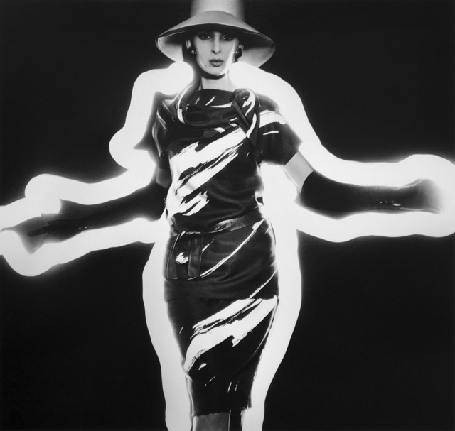 , 'Benedetta Barbini + Zebra-Stripede Dress + Light, Paris (Vogue),' 1962, Grob Gallery