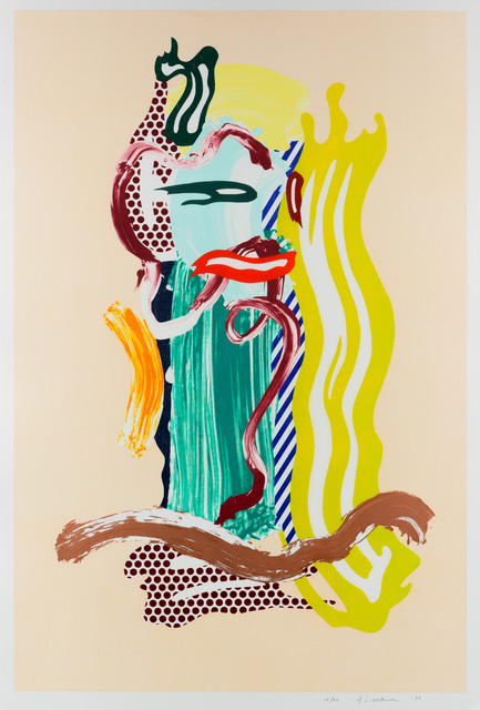 Roy Lichtenstein, 'Portrait, from Brushstroke Figures series', 1989, Leslie Sacks Gallery