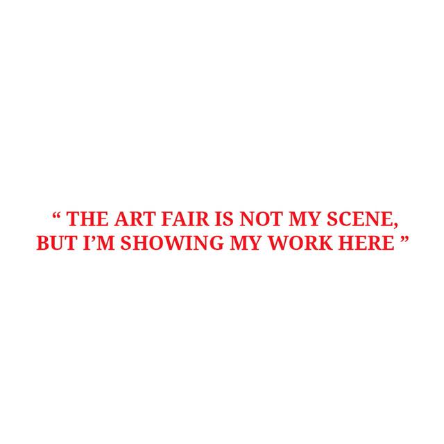 , 'Art Fair Is Not My Scene,' , Sabrina Amrani