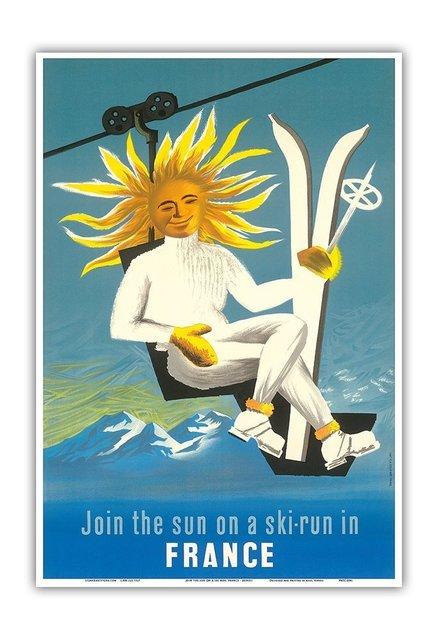 , 'JOIN THE SUN ON SKY IN FRANCE,' 1950, Galleria Alfieri