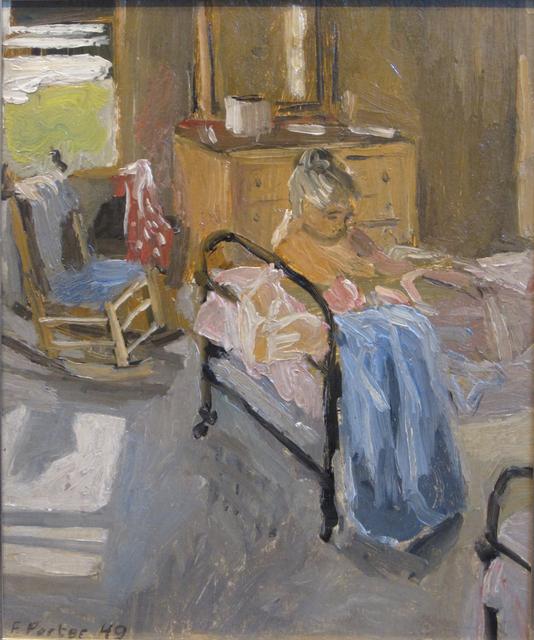 Fairfield Porter, 'The Bedroom', 1949, Painting, Oil on board, Tibor de Nagy