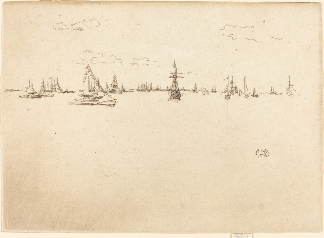 James Abbott McNeill Whistler, 'The Turret-Ship', 1887, National Gallery of Art, Washington, D.C.