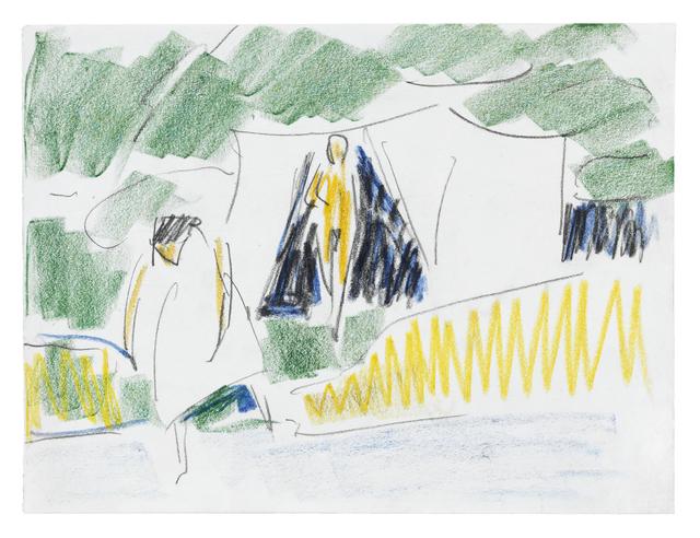 , 'Zwei am Zelt (Am Ufer),' ca. 1911, Ludorff