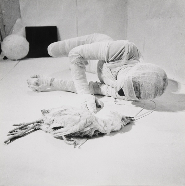 , ' Aktion mit seinem eigenen Körper,' 1966, Richard Saltoun
