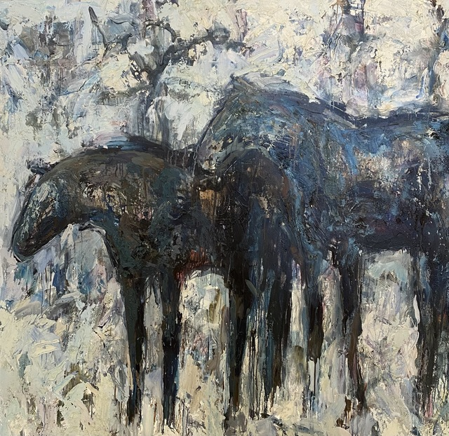 Theodore Waddell, 'Judge and Barjo', 1997, Painting, Oil, encaustic on canvas, Visions West Contemporary