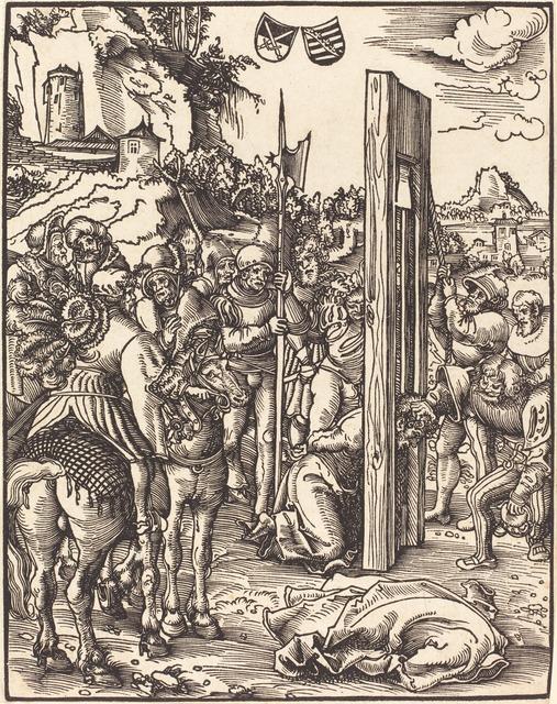 Lucas Cranach the Elder, 'Saint Matthias', Print, Woodcut, National Gallery of Art, Washington, D.C.