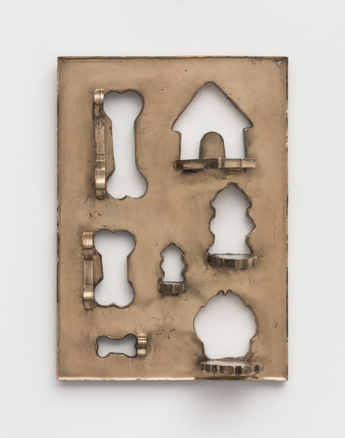 Zak Kitnick, 'The Dog Years (R & M Industries 1947 Dog Bone Cookie Cutters, Set of 7)', 2020, Other, Bronze, NINO MIER GALLERY