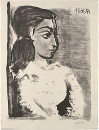Buste de femme au corsage blanc (Jacqueline de profil) (Bust of a Woman with White Bodice, Jacqueline in Profile)