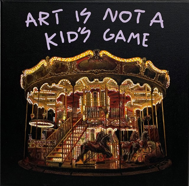 """Alejandro Monge, '""""BLACK SERIES: ART IS NOT A KID'S GAME""""', 2019, Painting, Oil on canvas, 3 Punts Galeria"""