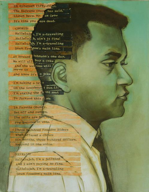 Charlotta Janssen, 'James Lawson (Profile) 32 yrs, from Nashville TN Arrested 5/24/1961 Jackson MS', 2011, Hudson Milliner Art Salon