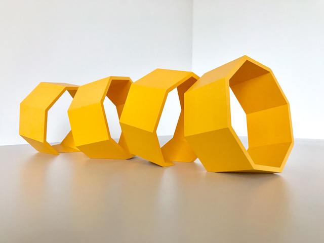 , 'Untitled (Yellow Octagons),' 2018, PROTO Gallery