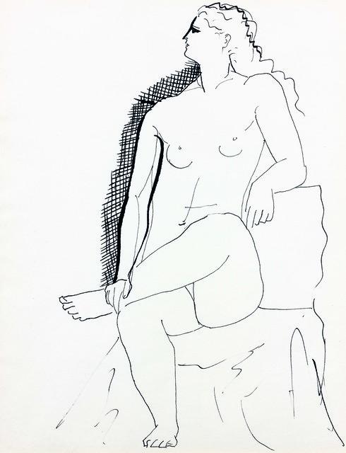 , 'Nu assis,' ca. 1925, Leandro Navarro