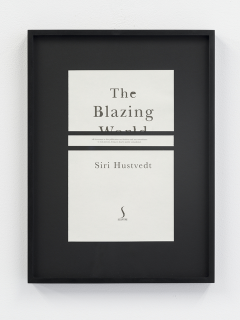 , 'Disclaimers (Siri Hustvedt: The Blazing World),' 2014, Galeri NON
