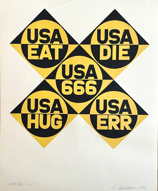 Robert Indiana, 'USA 666', 1971, Woodward Gallery