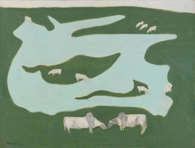 , 'Grazing Brahmins,' 1952, Victoria Miro