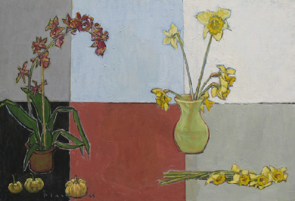 Joseph Plaskett, 'Orchid, Daffodils and Small Pumpkins', 2005, Bau-Xi Gallery