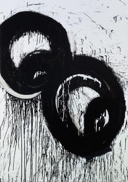 Joyce Pensato, 'Runaway Eyes', 2016, Painting, Enamel on linen, Petzel Gallery