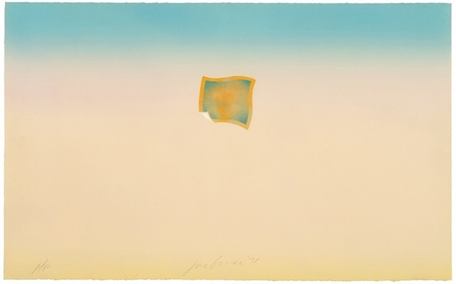 , 'Untitled (small orange photo on peach and blue background),' 1971, Bernard Jacobson Gallery