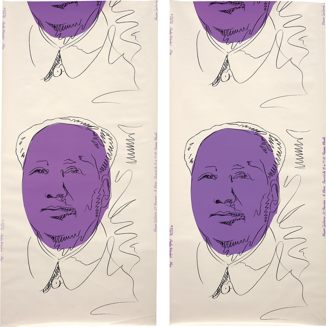 Andy Warhol, 'Mao (wallpaper), two panels', 1974, Phillips