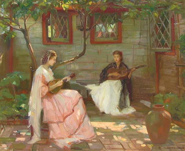 , 'Music in the Garden,' 1941, Caldwell Gallery Hudson