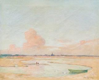 Soleil couchant sur une plage au Croisic