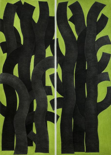 , 'Black Trees, Green Ground,' 2001, Tufenkian Fine Arts