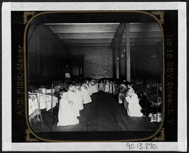 Jacob A. Riis, 'Prayer-time in the Nursery - Five Points House of Industry', ca. 1890, Museum of the City of New York