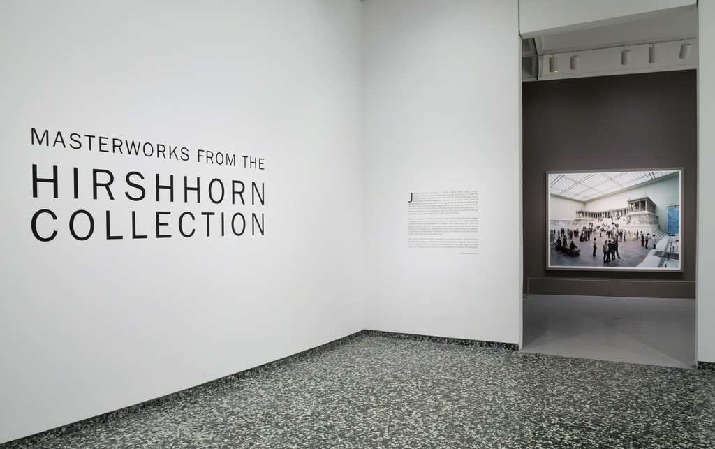 Installation view of Masterworks from the Hirshhorn Collection at the Hirshhorn Museum and Sculpture Garden, 2016. Thomas Struth, Pergamon Museum I, Berlin, 2001. Photo: Cathy Carver