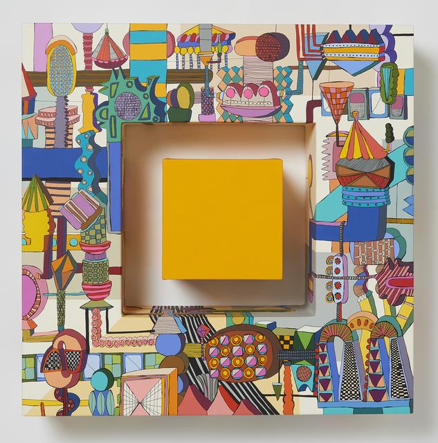 Eunmi Kim, 'push a button(yellow)', 2019, Painting, Acrylic,pen on canvas, Gallery LEE & BAE