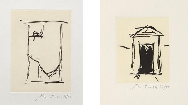 Robert Motherwell, 'House of Atreus; and España II', 1983, Phillips