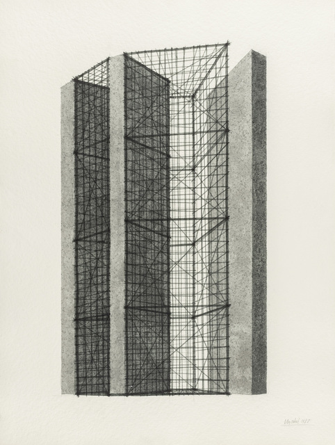 Giuseppe Uncini, 'Untitled', 1988, Drawing, Collage or other Work on Paper, Mixed technique on paper, Martini Studio d'Arte