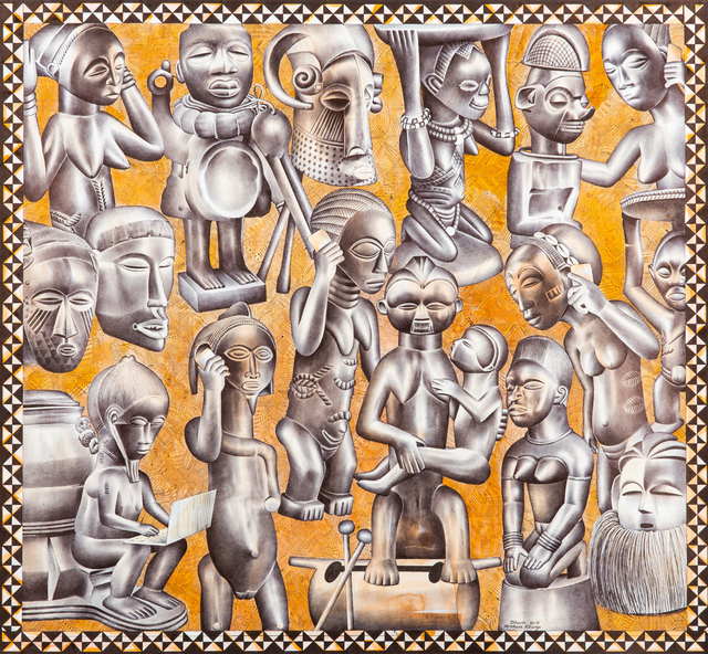 Tsham, 'La communication', 2015, Africa Bomoko