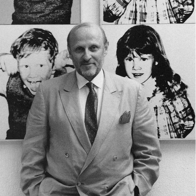 Jeannette Montgomery Barron, 'Bruno Bischofberger, Küsnacht, Switzerland', 1985, Photography, Vintage gelatin silver print., Patrick Parrish Gallery