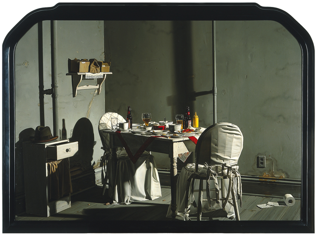 Donald Roller Wilson, 'Mrs. Jenkins' Late Night Dinner in Her Room, Alone (While, Out in the Hall Leading to Her Room, Her Small Friends were Sleeping)', 1984, Blanton Museum of Art