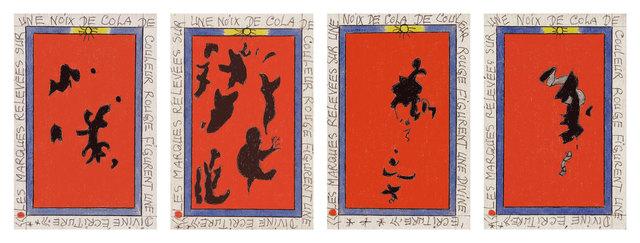 , 'Les marques relevées sur une noix de cola de couleur rouge figurent une divine écriture,' 2007, Magnin-A