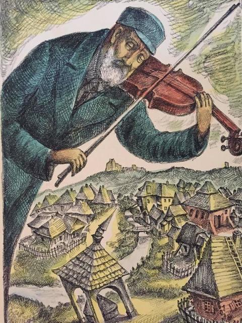 Chaim Goldberg, 'Chassidic Klezmer Fiddler', 20th Century, Lions Gallery