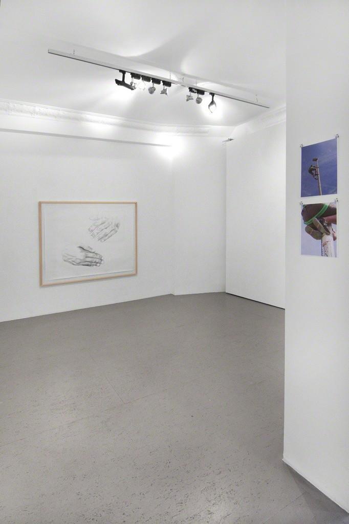 installation view Simon Pfeffel - handeln ist sterben lernen