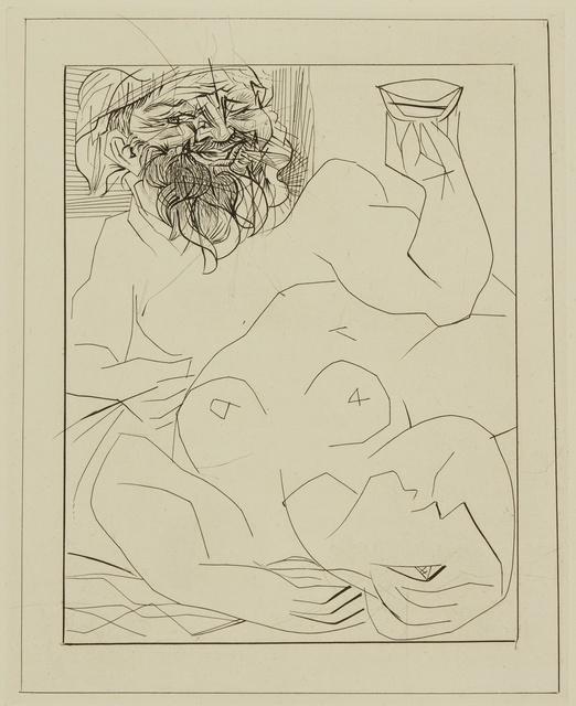 Pablo Picasso, 'Bacchus et Marie-Thérèse (en Ariane?) (B. 284; Ba. 432)', Print, Engraving and drypoint, Sotheby's