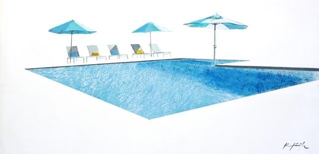 Kathleen Keifer, 'Cool Sun, Aqua Shade', 2017, Artspace Warehouse
