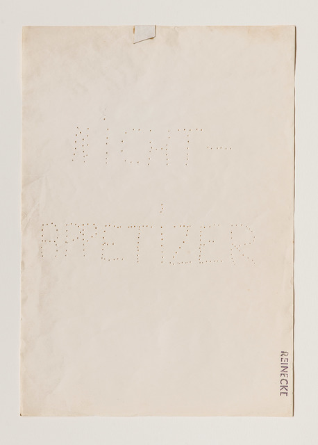 , 'Nicht-Appetizer,' 1969, Beck & Eggeling