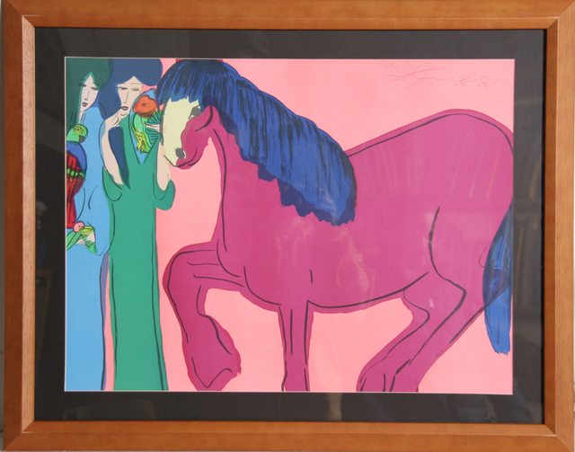 Walasse Ting 丁雄泉, 'Two Geishas with Horse', 1981, RoGallery