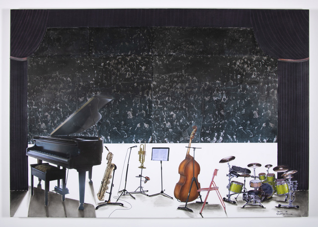 Sam Nhlengethwa, 'Waiting for the Jazz Band', 2018, Goodman Gallery