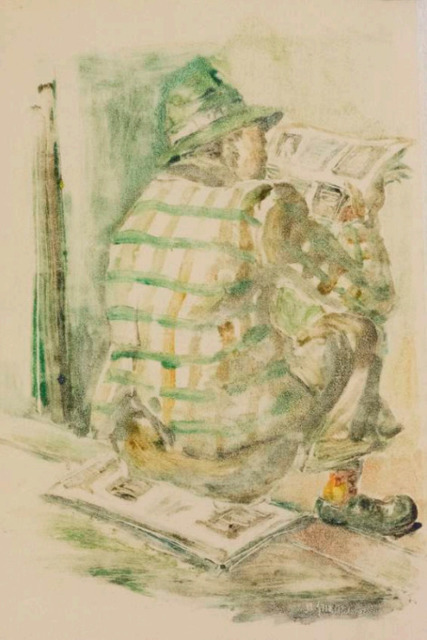 , 'Reading the Newspaper,' 1977, Gallery MOMO