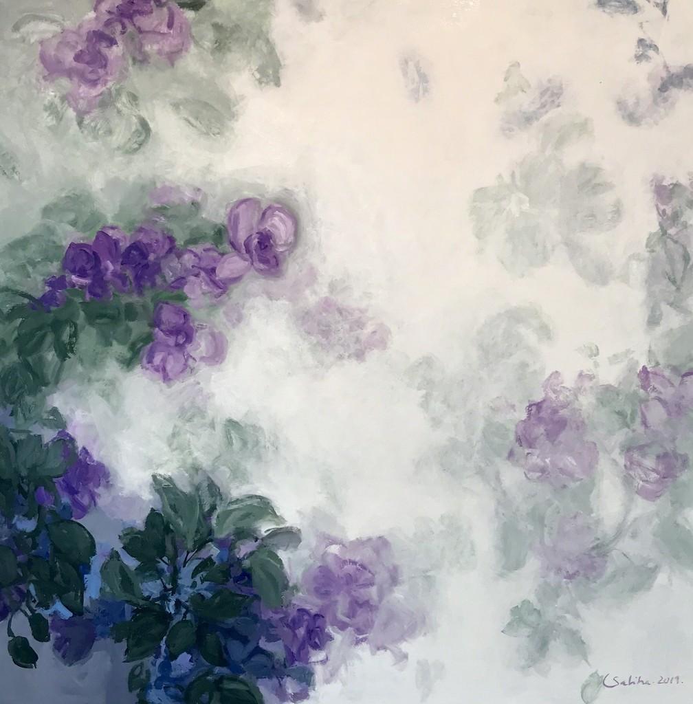 "LAVENDER II PEARSON CELIA ART PRINT POSTER 13/"" X 13/"" SEA GLASS"