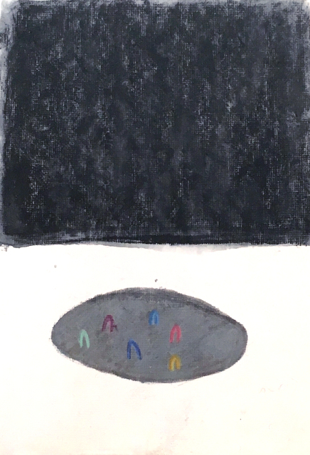 , 'The Puddle and the Plateau (study, black),' 2018, JGM Gallery